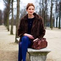 Garance, blue tights