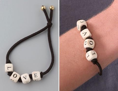stupid alphabet bracelets