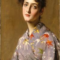 William Merritt Chase: Girl in a Japanese Costume