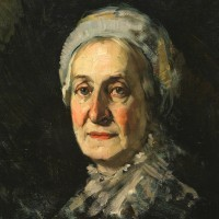 Frank Duveneck: old lady with a cap