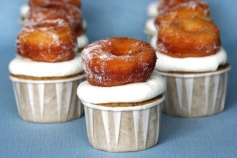 doughnut + coffee cupcakes