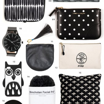 Holiday Gift guide in Noir by Miss Moss