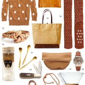 Miss Moss Gift Guide in Golden Brown