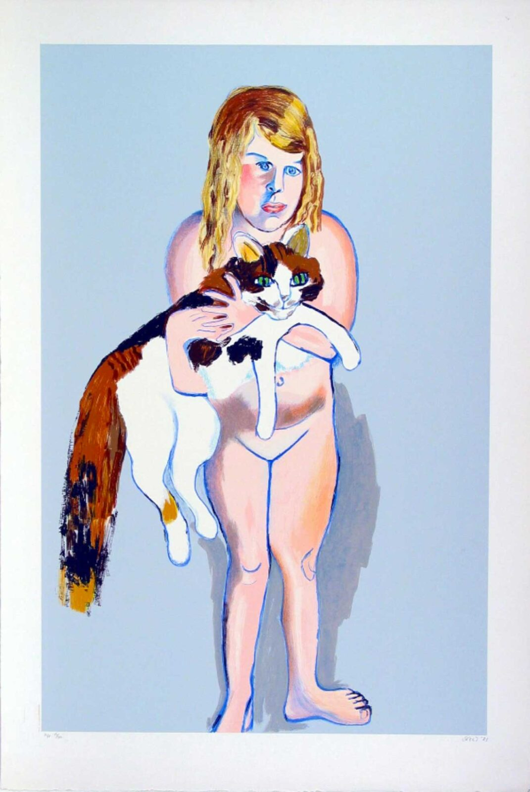 Alice Neel, Victoria and the Cat, 1981