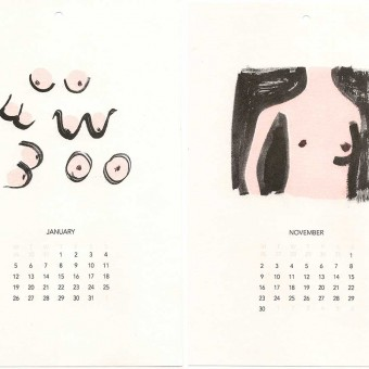 Illustrated Nudie Calendar by Anna Gleeson