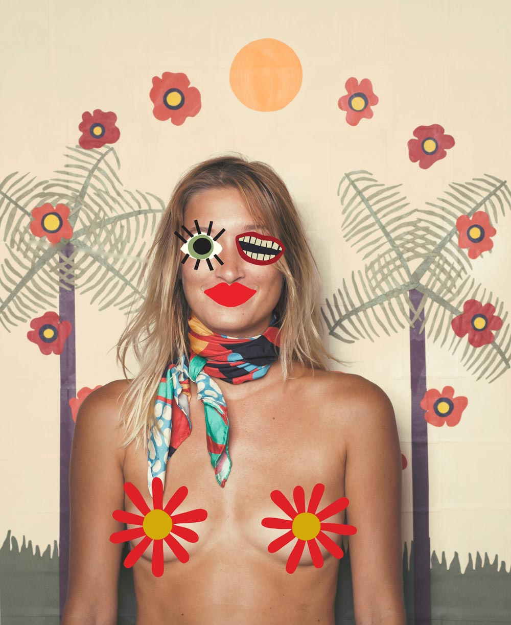 ELOI scarves, made from paper cut-out designs.