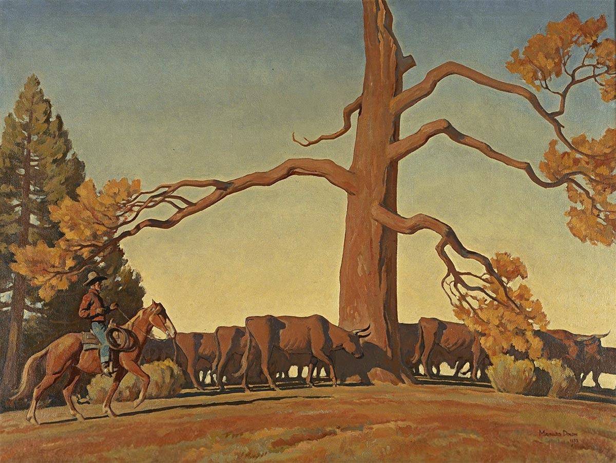 LAFAYETTE MAYNARD DIXON, Top of the Ridge, 1933