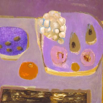 Mauve Still Life 1968 by Mary Fedden born 1915