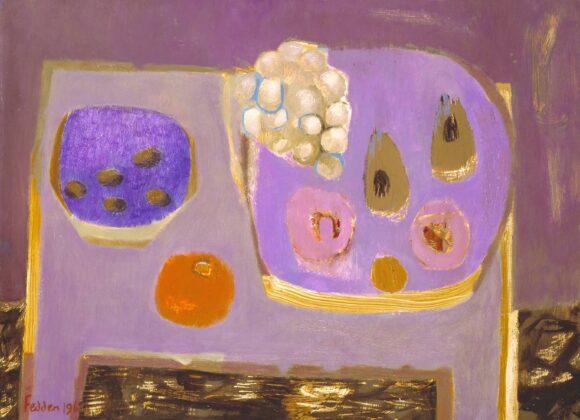 Mauve Still Life 1968 by Mary Fedden born 1915