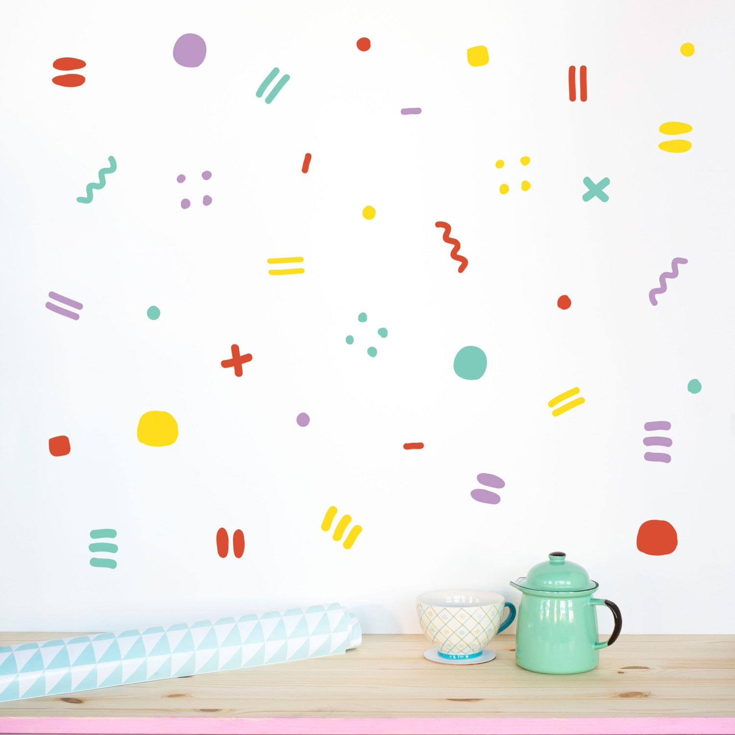 Happy Wall decal pattern