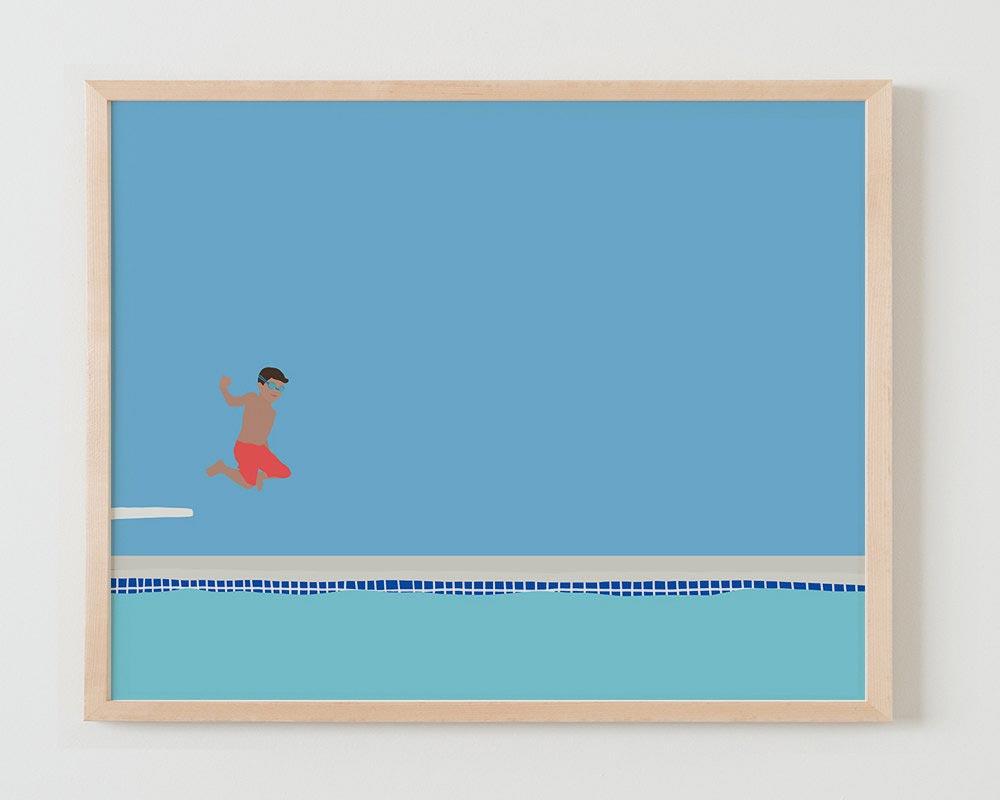 diving board print