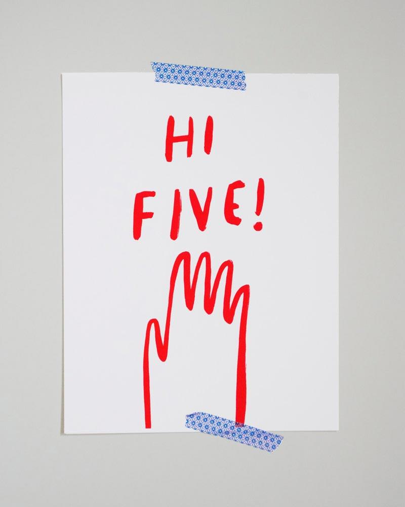 hi five print