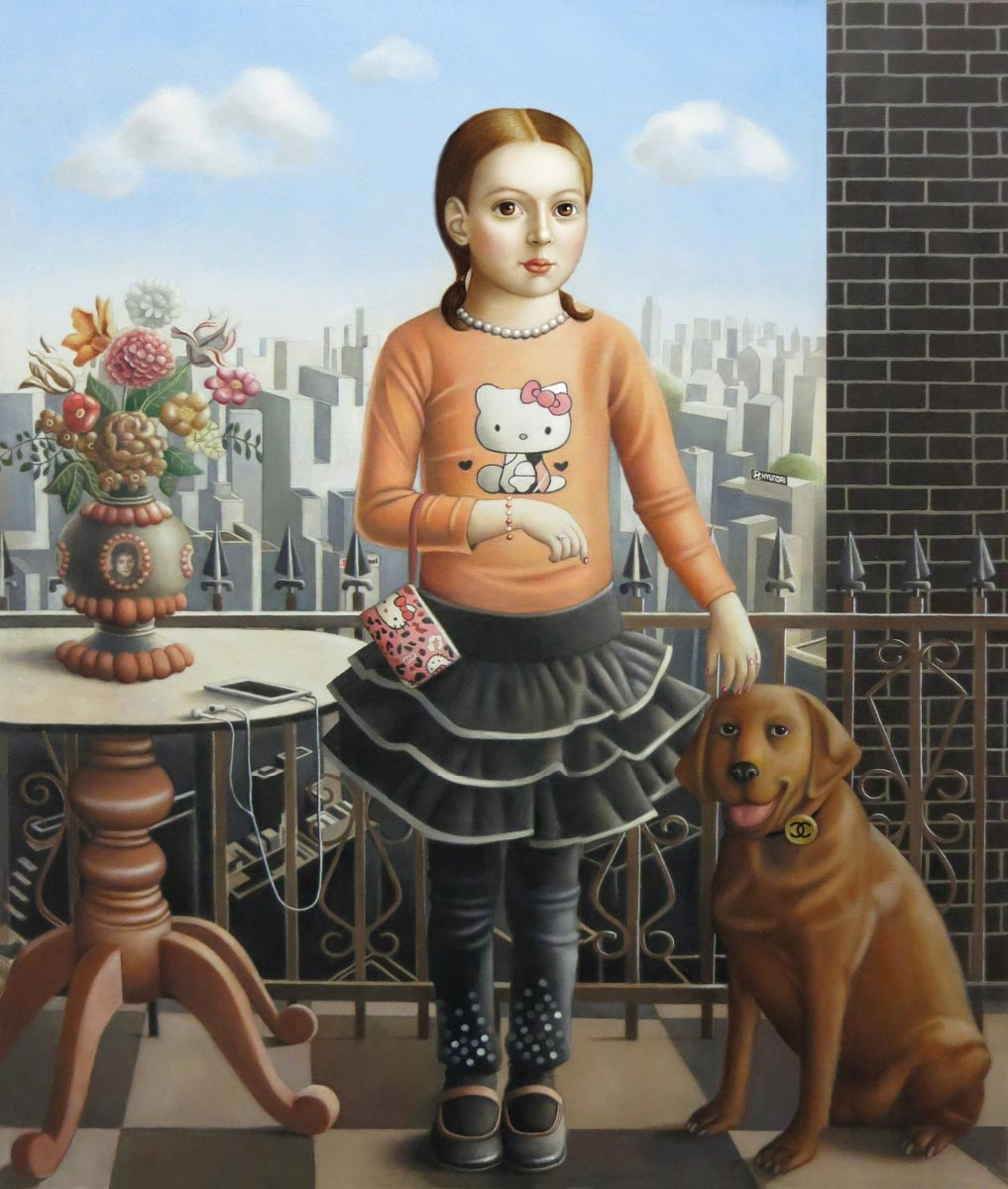 AMY HILL, Girl with Dog