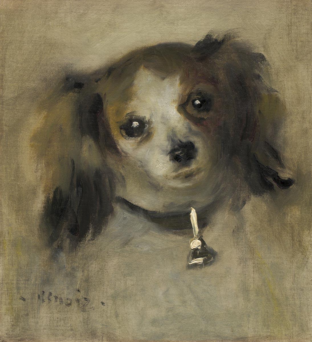PIERRE-AUGUSTE RENOIR, Head of a Dog, 1870
