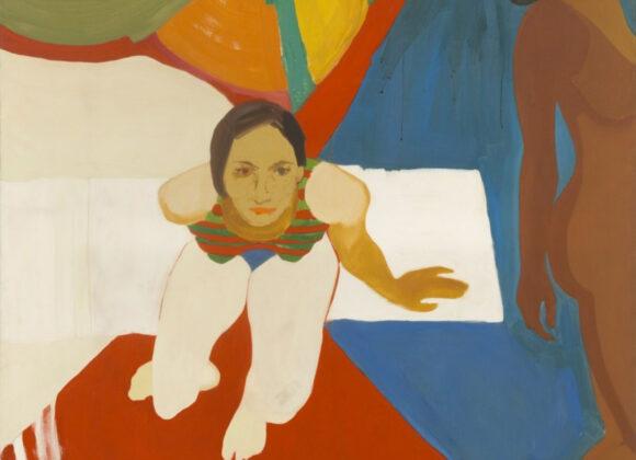 Emma Amos -Seated-Figure,-1966