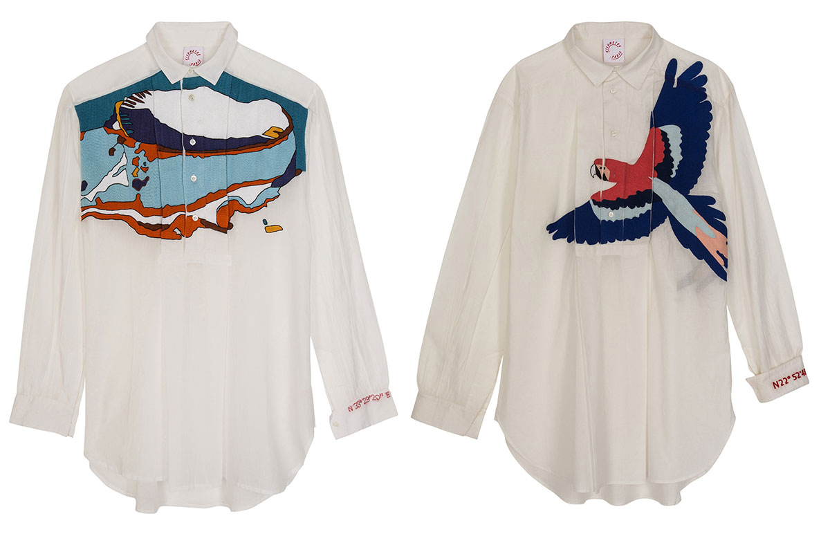 Hand Embroidered shirts by Kilometre Paris